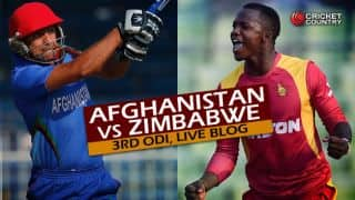 AFG 58 in 16.1 Overs | Live Cricket Score, Afghanistan vs Zimbabwe 2015-16, 3rd ODI at Sharjah: ZIM win by 117 runs