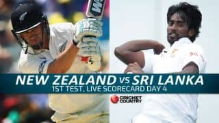 Live Cricket Scorecard: New Zealand vs Sri Lanka 2015-16, 1st Test at Dunedin, Day 4