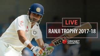 Live cricket scores, Ranji Trophy 2017-18, Round 7, Day 1