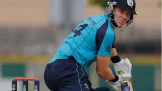 Maiden ODI century from Richie Berrington helps Scotland to set a target of 222 runs against Ireland