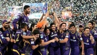 KKR celebrate IPL 2014 victory