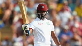 West Indies win 3rd Test against England at Barbados by 5 wickets; series drawn 1-1