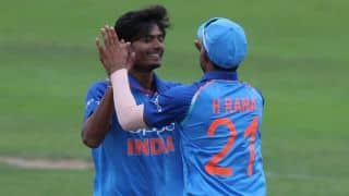 ICC Under-19 World Cup 2018: Anukul Roy stars again; India restrict Zimbabwe to 154