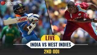 Live cricket score, India vs West Indies, 2nd ODI