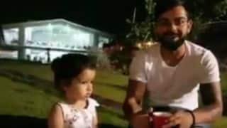 "Watch Virat Kohli's ""reunion"" with Ziva Dhoni"