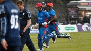 Rain, Rahmat trump McLeod hundred as Afghanistan beat Scotland