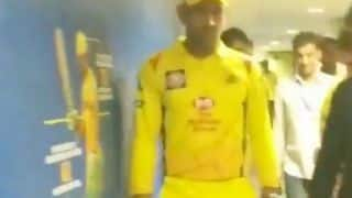 Watch: MS Dhoni walk in with a golden retriever in CSK dressing-room
