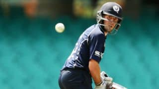 Ban vs Sco: Calum MacLeod dismissed for 11 by Mashrafe Mortaza