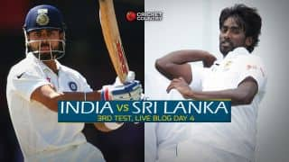 SL 67/3 | Live Cricket Score, India vs Sri Lanka 2015, 3rd Test in Colombo, Day 4, STUMPS: Sri Lanka suffer early jolts in chase of 386