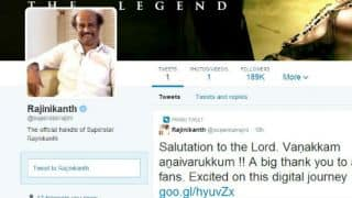 Rajinikanth poses threat to Tendulkar's Twitter records