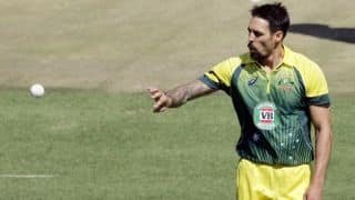 Mitchell Johnson tweets after glass-shattering six