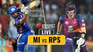 RPS 88/1 in 11 overs | Live IPL 2017 score, MI vs RPS, IPL 10, Match 28: Rahane departs