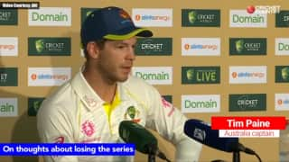 There are no thoughts about losing this series: Tim Paine