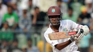 Kraigg Brathwaite scores his seventh Test half-century