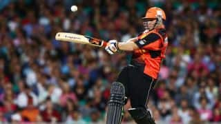 Perth Scorchers off to quick start against Hobart Hurricanes; 38/1 in 6 overs