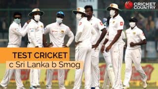 Delhi pollution: Test cricket c Sri Lanka b Smog