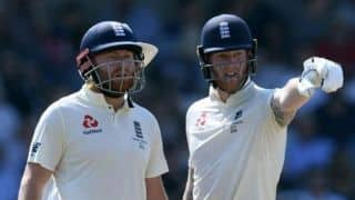 Ashes 2019, 3rd Test: Stokes, Bairstow offer England hope after early Lyon strike