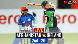 Live Cricket Score, AFG vs IRE, 2nd T20I at Greater Noida: AFG register 10th consecutive win