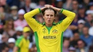Cricket World Cup 2019: Adam Zampa found guilty of breaching ICC Code of Conduct during Australia's win over West Indies