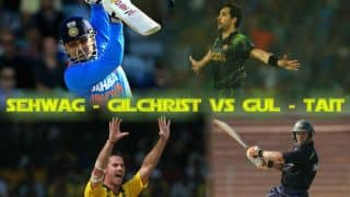 Sehwag and Gilchrist vs Tait and Gul
