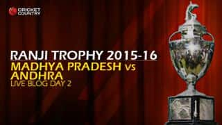 AND 89/2 | Live Cricket Score, Madhya Pradesh vs Andhra, Ranji Trophy 2015-16, Group B match, Day 2 at Indore