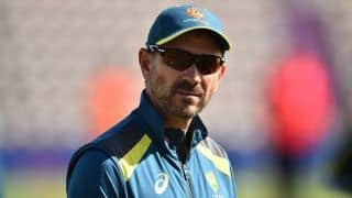 We're not here to see how many helmets we can hit: Justin Langer