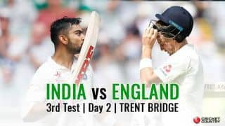 India vs England, 3rd Test, Day 2 Live Cricket Score and Updates: India look for quick runs on Day 2