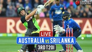 Live Cricket Score, Australia vs Sri Lanka, 3rd T20I at Adelaide: Aus lose Finch