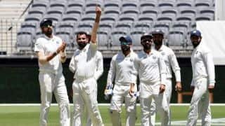 1st Test: India 15/2 at lunch after Australia wag to 243