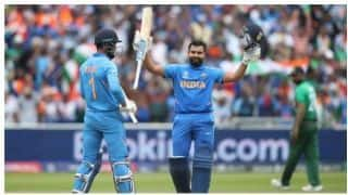 ICC CRICKET WORLD CUP 2019: Rohit Sharma hits century, but Bangladesh limit India to 314/9
