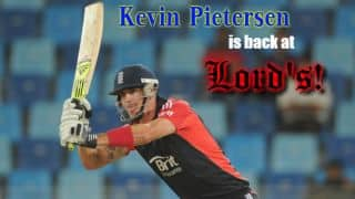 Kevin Pietersen returns to Lord's