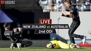 Live Cricket Score, New Zealand vs Australia, 2nd ODI at Napier: Match abandoned