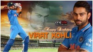 हैप्पी बर्थडे विराट कोहली: भारतीय कप्तान विराट कोहली ने केक काटकर मनाया अपना 29वां बर्थडे