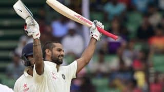 Shikhar Dhawan scores 4th Test hundred in India vs Sri Lanka 2015, 1st Test at Galle, Day 2