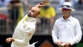Nathan Lyon five-for hands Australia slight advantage