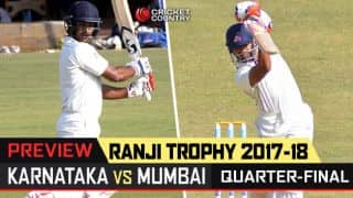 Ranji Trophy 2017-18, 4th quarter-final preview: Karnataka face heavyweights Mumbai