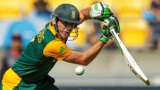 AB de Villiers gets fifty against UAE in ICC Cricket World Cup 2015