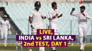 Live Cricket Score, India vs Sri Lanka 2017-18, 2nd Test at Nagpur: Chandimal, Karunaratne lead SL's recovery