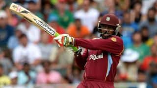 Chris Gayle impresses with one-liner speech
