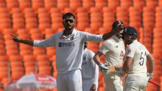 India vs England, 4th Test: Axar Patel strikes early as England scores 75/3 at lunch