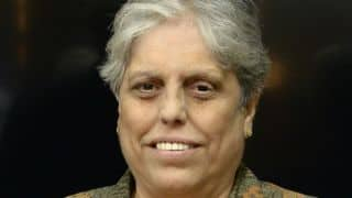 Diana Edulji recused herself from discussion on women's cricket