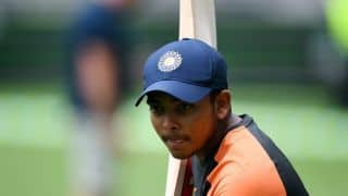 Prithvi Shaw receives pep talk from Sachin Tendulkar