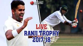 Live Cricket Score, Ranji Trophy 2017-18 semi-final: Stumps