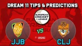 Dream11 Team JJB vs CLJ Minor Play-offs European Cricket League-T10 – Cricket Prediction Tips For Today's T10 Match Cluj Cricket Club vs JCC Brescia at La Manga Club