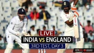 LIVE Cricket Score, India vs England, 3rd Test Day 3 at Mohali; Ashwin picks 3 as India dominate day's play