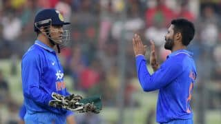 India vs Pakistan 2016: Wahab Riaz dismissed for 4 by Ravindra Jadeja in Match 4 of Asia Cup T20 2016