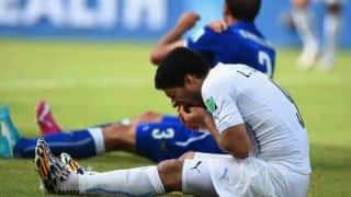 Luis Suarez and his mega-bite