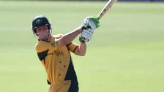 Mitchell Marsh, Phillip Hughes help Australia set a target of 283 against South Africa in 5th ODI