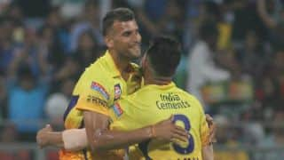Nic Maddinson dismissed early against Chennai Super Kings in Match 37 of IPL 2015