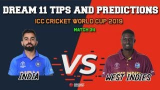IND vs WI Dream11 Prediction, Cricket World Cup 2019: Best Playing XI Players to Pick for Today's Match between India and West Indies at 3 PM
